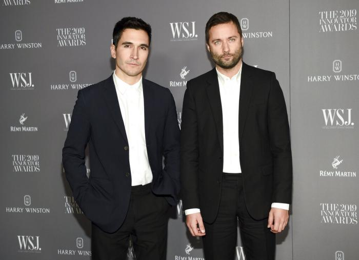 Designers Lazaro Hernandez, left, and Jack McCollough attend the WSJ. Magazine 2019 Innovator Awards in New York on Nov. 6, 2019.