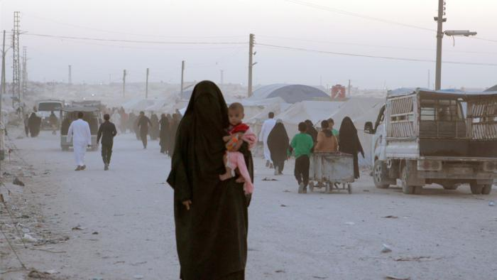 A woman with her child in Syria's Al-Hol camp the mostdangerous camp in the MiddleEast. As seen inSabaya directed by Hogir Hirori