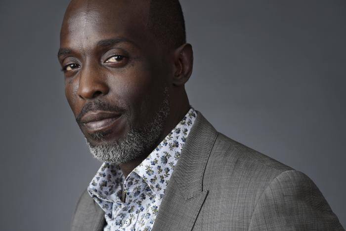 """In this Saturday, July 30, 2016, file photo, Michael Kenneth Williams, a cast member in the HBO series """"The Night Of,"""" poses for a portrait during the 2016 Television Critics Association Summer Press Tour at the Beverly Hilton in Beverly Hills, Calif."""